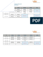 COurse Schedule - Introduction to Operations Research