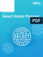 2019 Datto Select Vendor Program Guide