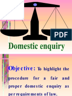 Domestic Enquiry