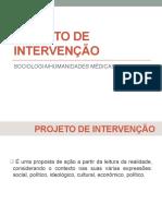 Projeto de Intervenção 2018.2