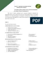 Questionnaire- ccto