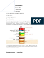Materiales e IngredientesEXPERIMENTS