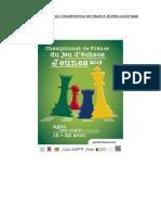 Livret Jeunes Championnat de France ( PROJET FINAL )