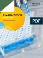 Intertek Pharmaceutical Services Brochure