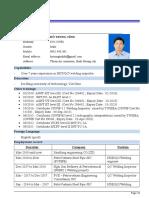 CV Ho Trung Tinh