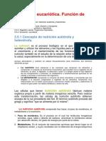 Concepto de Nutrición Autótrofa y Heterótrofa.