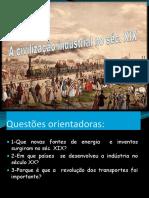 A Civilização Industrial No Séc XIX2018-19