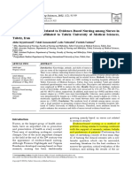 Individual Potentials Related to Evidence-Based Nursing Among Nurses in Teaching Hospitals Affiliated to Tabriz University of Medical Sciences, Tabriz, Iran