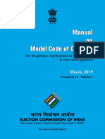 Election Commission of India Model Code of Conduct (2019)