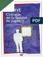 Emmanuel Kant, Alain Renaut - Critique de la Faculte de Juger (2015, Garnier Flammarion).pdf