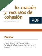 Párrafo, Oración y Cohesión Presentacion