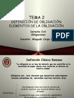 La Obligacion Civil. Sus Elementos