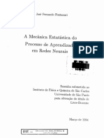 A mecânica estatística do processo de aprendizado de redes neurais