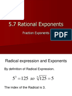 5.7 Rational Exponents
