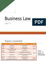BL UNIT1.1 IntroductionToBusinessLaw