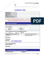 4.5.1 Change Request Form Template