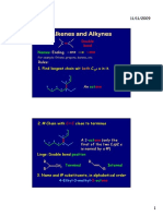 Alkene and Alkyne