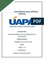 TAREA I DE DIDACTICA ES. DE LA CIENCIAS DE LA NATURALEZA DE YORLENNY.docx