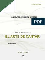 Monografia El Arte Del Canto