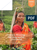 India Missing Demographic Dividend Final Report