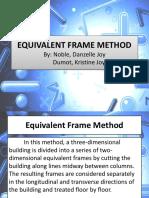 Equivalent Frame Method