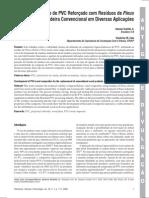 PVC Reforçado com Resíduos de Pinus
