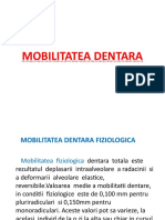 Curs Nr 3 Mobilitatea dentara