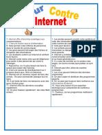 Pour Ou Contre Internet Dynamique en Salle de Classe Enseignement Communic 114534