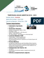 Calendario Aguas Abiertas - Fun 2019