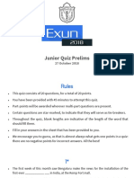 Exun 2018 Junior Quiz Prelims (With Answers)