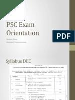 PSC syllabus for DEO & AEO EXam Orientation