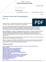 Programa de Intervalo de Mantenimiento (Sebp5387 - 39 ) - Documentación