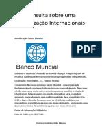 Consulta Sobre Uma Organização Internacional