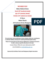 Mixtec Medical Clinic Volunteer  2019