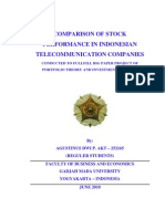 Comparison of Stock Performance in Indonesian Telecommunication Companies