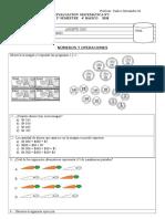 Evaluación matemáticas cuarto  basico