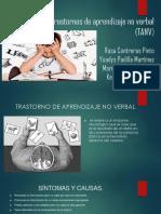 Expo Trastorno de Aprendizaje No Verbal