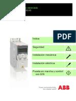 Manual Del Usuario Abraviado VARIADOR ABB-ACS310