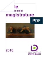 Ecole Nationale de la Magistrature 2018