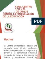 1. La Táctica Del Centro Democrático y El Gobierno de Duque Contra La Financiación de La Educación (1)