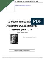 Le Dclin Du Courage Par Alexandre SOLJENITSYNE Harvard Juin 1978 a65