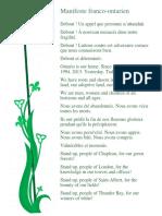 « Manifeste franco-ontarien pour un avenir fort » de l'AFO