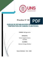 Curvas de Estabilizacion de Humedad y Temperatura en Camara Climatizada