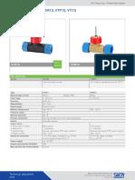 Datasheet Flow Turbine Flow Sensors Turbotron VT15