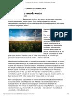 A Energia Que Vem Do Vento. Revista AdNormas