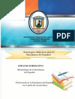 Estrategias didácticas para la Enseñanza del Español