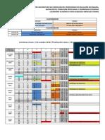Calendario Matemáticas 2018-2019 Modificado