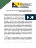 A Interseccionalidades e Maternidade Na Universidade Federal Da Bahia
