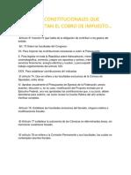 Articulos Constitucionales Que Fundamentan El Cobro de Impuesto