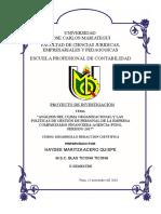Copia (3) de Proyecto de investigacion ANÁLISIS DEL CLIMA ORGANIZACIONAL Y LAS POLÍTICAS DE GESTIÓN DE PERSONAL DE COMPARTAMOS FINANCIERA-AGENCIA-PUNO Final.doc